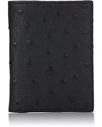 Barneys New York - Ostrich Folding Card Case - Lyst