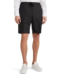 Officine Generale - Phil Worsted Wool Drawstring Shorts - Lyst