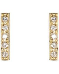 Jennifer Meyer - Bar Stud Earrings - Lyst