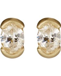 Tate - Oval Stud Earrings - Lyst