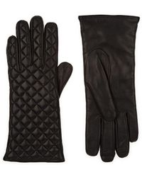 Barneys New York - Quilted Leather Gloves - Lyst