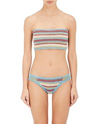 She Made Me - Striped Bandeau Top - Lyst
