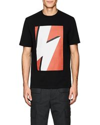 Neil Barrett - Lightning Bolt-print T-shirt - Lyst