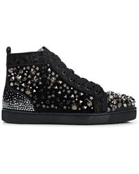 Christian Louboutin - Louis Flat Mixed Fabric Sneakers - Lyst