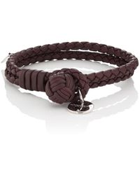 Bottega Veneta - Intrecciato Leather Double-band Bracelet - Lyst