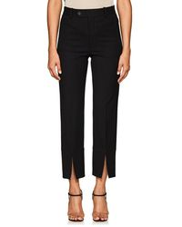 Helmut Lang - Cropped Slit Trousers - Lyst