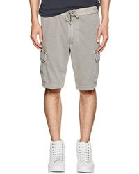 James Perse - Cotton Cargo Shorts - Lyst