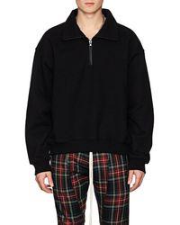 Fear Of God - Cotton Terry Quarter-zip Sweatshirt - Lyst