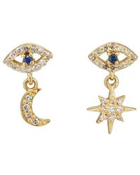 Ileana Makri - Mismatched Eye Stud Earrings - Lyst
