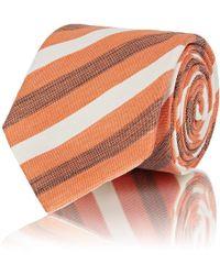 Brioni - Striped Linen-silk Necktie - Lyst