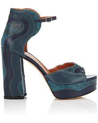 Derek Lam - Kimble Leather & Snakeskin Platform Sandals - Lyst
