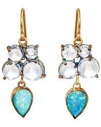 Judy Geib - Mixed-gemstone Double-drop Earrings - Lyst