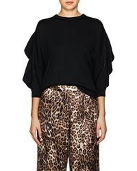 Valentino - Lace-trimmed Wool Sweater - Lyst