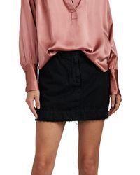 Nili Lotan - Apolline Striped Cotton-linen Miniskirt - Lyst