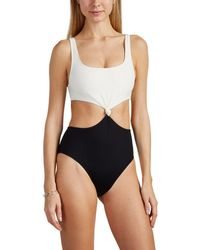 Solid & Striped - Bailey Cutout Colorblocked One-piece Swimsuit - Lyst