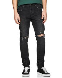 Purple - P001 Distressed Slim Jeans - Lyst