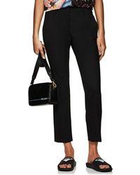 Prada - Wool Slim Crop Trousers - Lyst