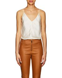 Juan Carlos Obando - Washed Satin V-neck Cami - Lyst