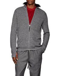 Rag & Bone - Andrew Rib-knit Zip-front Sweater - Lyst