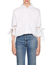 Sir. The Label - Cotton Eyelet Tie-sleeve Blouse - Lyst