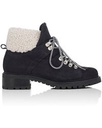 Barneys New York - Suede & Shearling Lace-up Ankle Boots - Lyst