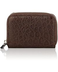 Barneys New York - Small Alligator Zip-around Card Case - Lyst