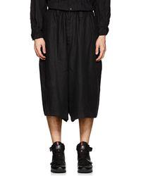 Yohji Yamamoto - Big Linen Twill Shorts - Lyst