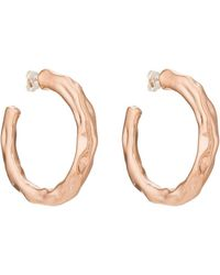 Pamela Love - Wavy Hoop Earrings - Lyst