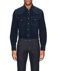 Brunello Cucinelli - Cotton Corduroy Western Shirt - Lyst