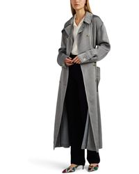 Giorgio Armani - Cotton-blend Double-breasted Trench Coat - Lyst