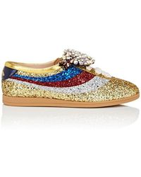 Gucci - Falacer Glitter Sneakers Size 6.5 - Lyst