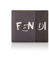 Fendi - Logo Leather Billfold - Lyst