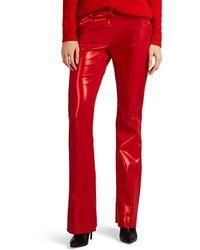 PT01 - Cotton-blend Lamé Flared Pants - Lyst