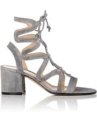 Gianvito Rossi - Artemis Suede Gladiator Sandals - Lyst