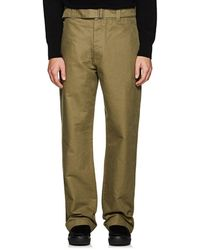 Margaret Howell - Cotton Twill Wide-leg Trousers - Lyst