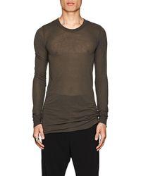 Rick Owens - Elongated Long-sleeve T-shirt - Lyst