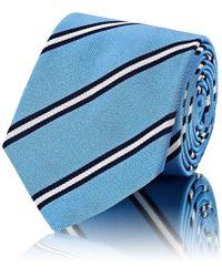 Barneys New York - Striped Silk Faille Necktie - Lyst