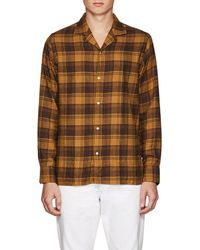 Officine Generale - Plaid Cotton Flannel Shirt - Lyst