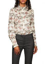 Isabel Marant - Joan Ruffled Floral-print Silk - Lyst