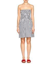 ATM - Striped Cotton Strapless Dress - Lyst
