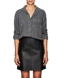 NSF - Axel Distressed Chambray Shirt - Lyst