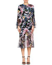Prabal Gurung - Floral Silk Dress - Lyst