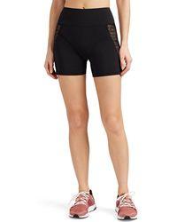 Kiki de Montparnasse - Lace-mesh-inset Biker Shorts - Lyst