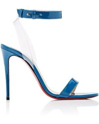 Christian Louboutin - Jonatina Patent Leather & Pvc Sandals - Lyst