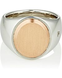 Tom Wood - Oval-face Signet Ring - Lyst