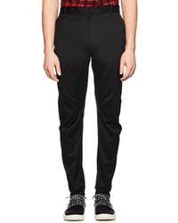 Lanvin - Relaxed Biker Cotton Trousers - Lyst