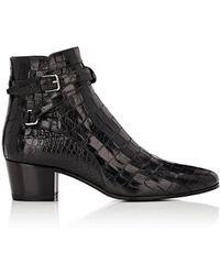 Saint Laurent - Women's Blake Leather Jodhpur Boots - Lyst