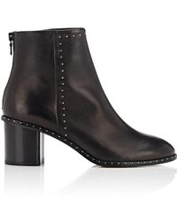 Rag & Bone - Willow Studded Leather Ankle Boots - Lyst