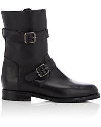 Manolo Blahnik - Sulaltra Leather Moto Boots - Lyst