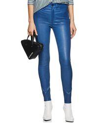 Rag & Bone - Leather High-rise Skinny Jeans - Lyst